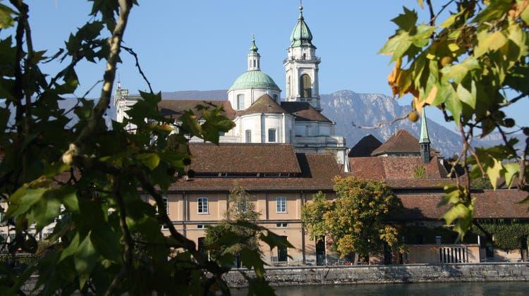 Die Solothurner Aare im Herbst. (Wolfgang Wagmann)