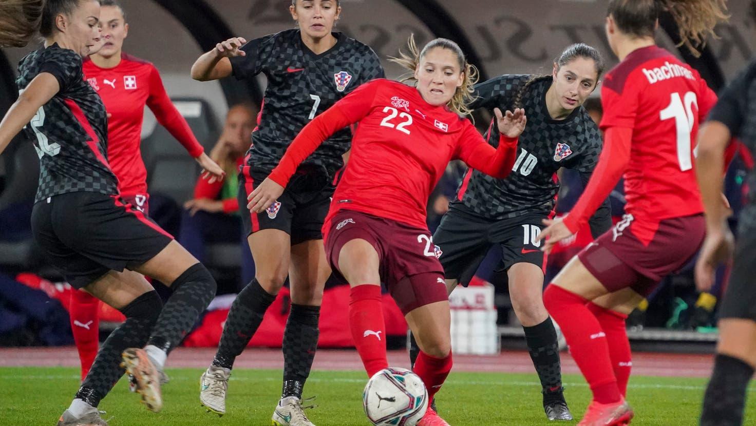 Die Nati gewinnt gegen Kroatien mit 5:0 und verteidigt den ersten Rang in der Qualifikationsgruppe für die WM