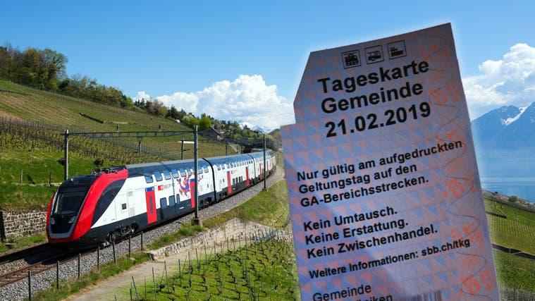 Freie Fahrt – hier in der RegionLavauxam Genfersee – ermöglichen 21der 32 Fricktaler Gemeinden mit ihren SBB-Tageskarten. (Dario Haeusermann / zvg (10. April 2017))