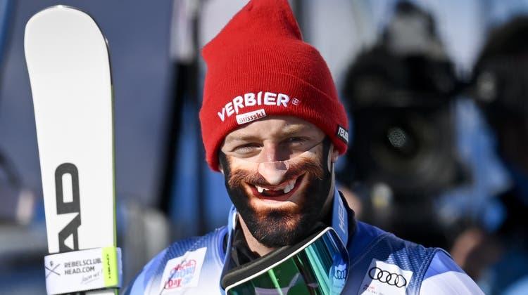 Masken-Clown Justin MurisierbewiesbeimSki-Weltcup-Auftakt in Söldenim Oktober 2020 Mut zur Zahnlücke. (Key)