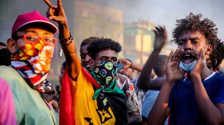 Proteste in Khartum. (Keystone)