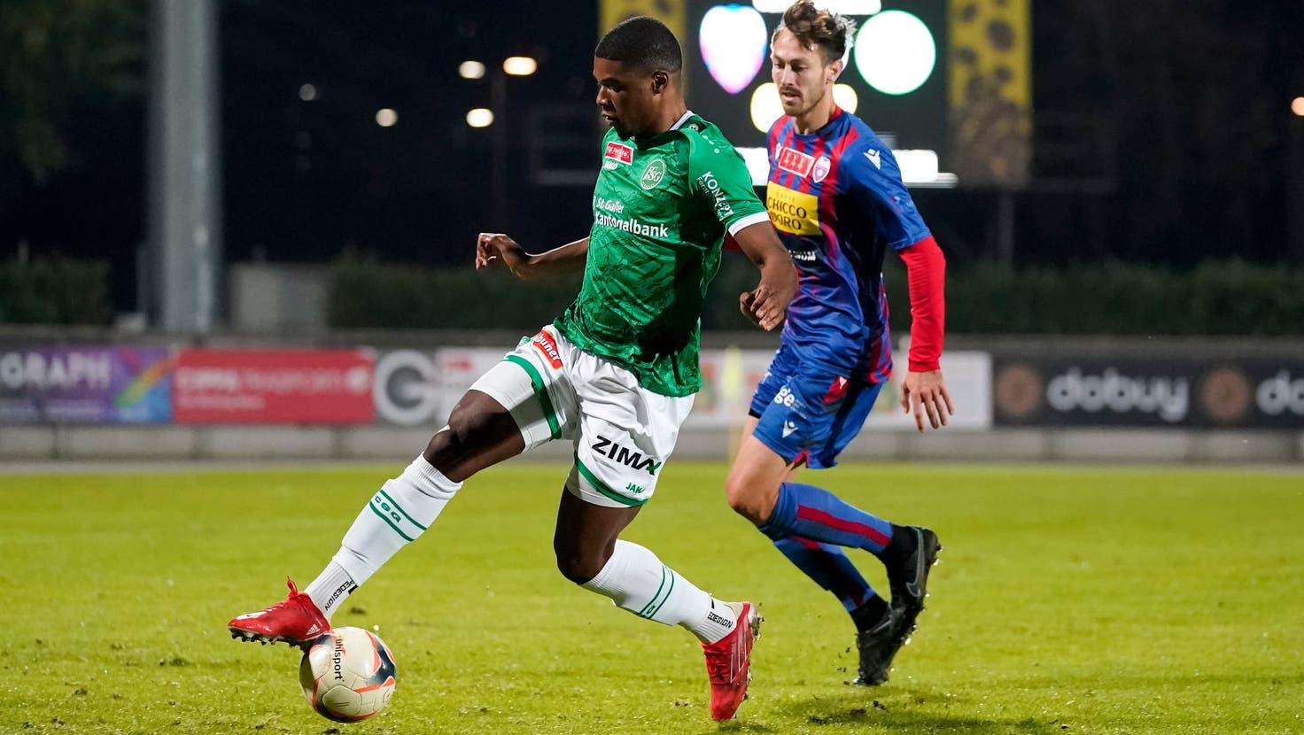 Dank Doppelpack von Duah: Der FC St.Gallen knorzt sich gegen Chiasso in den Cup-Viertelfinal