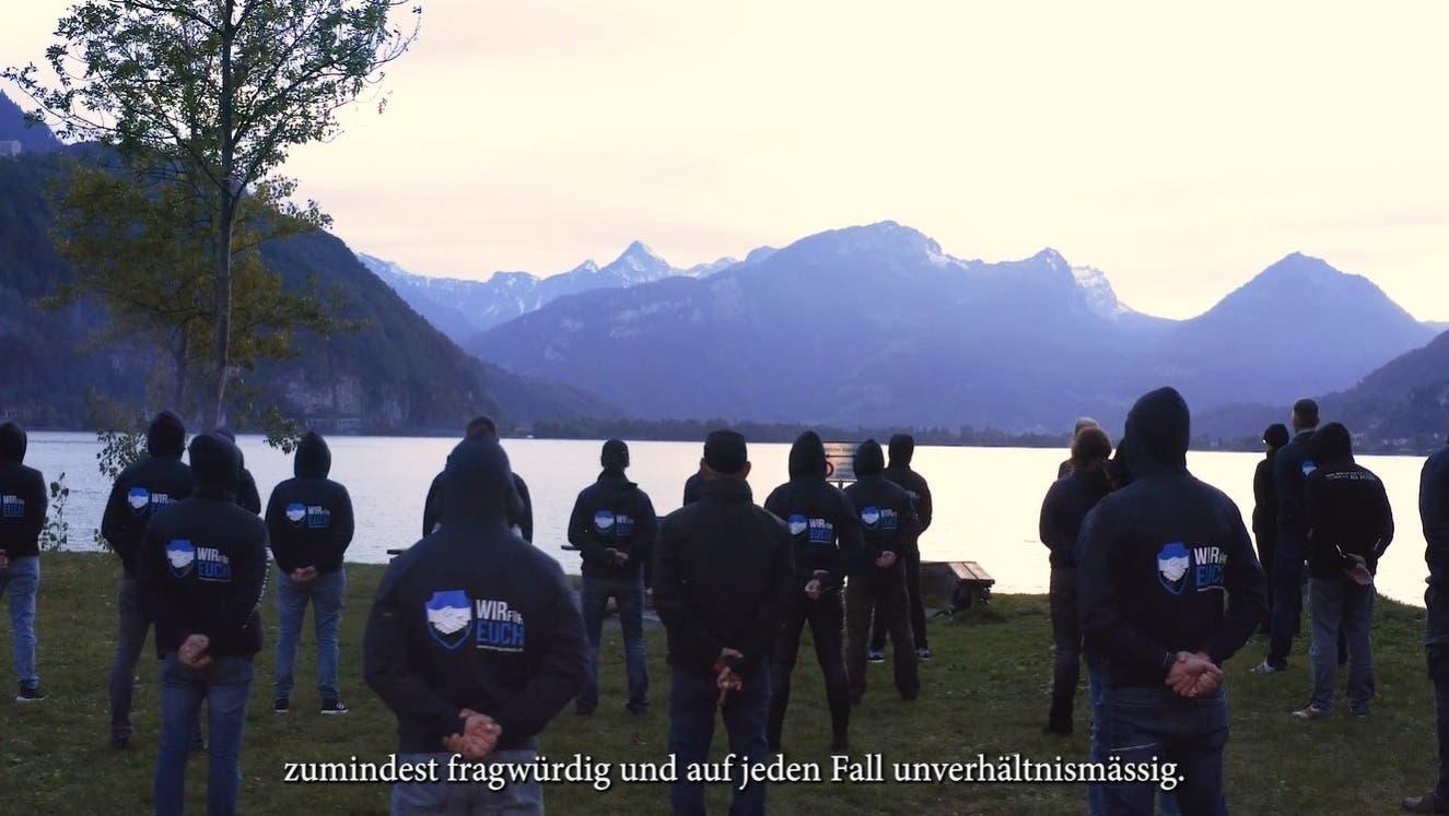 Das viel diskutierte Video der Massnahmengegner «Wir für Euch» wurde am Walensee aufgenommen. (Screenshot: «Wir für Euch»-Teaser)