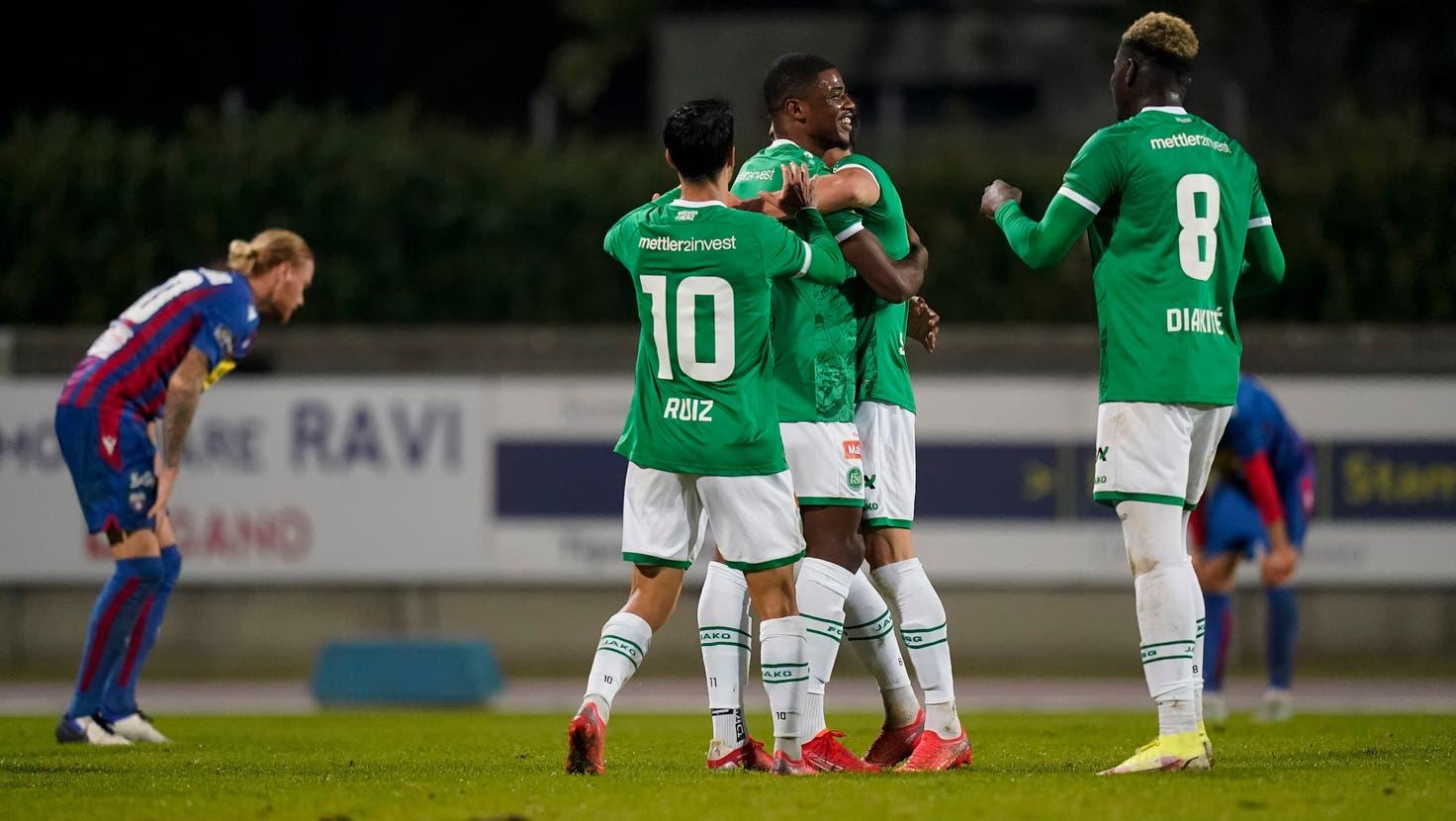 Kwadwo Duahs erster Streich: Er trifft in der 79. Minute zum 1:0 - St.Gallen muss dennoch in die Verlängerung. (Bild: Claudio Thoma/Freshfocus)