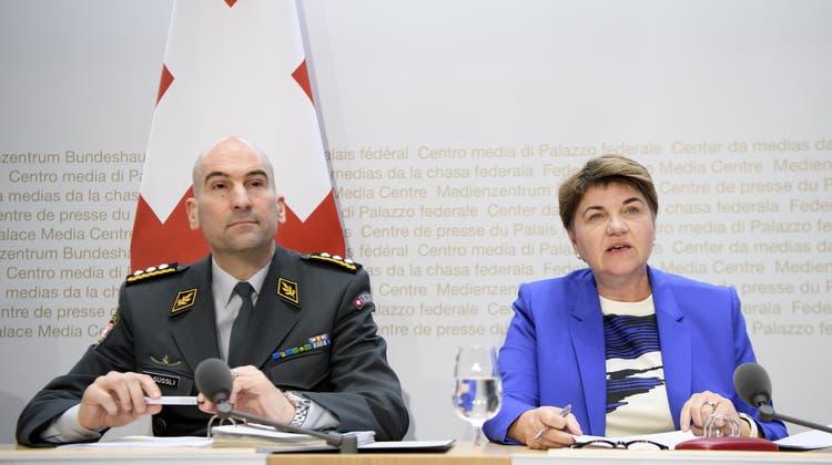 An den Gesprächen nahmen Armeechef Süssli und Verteidigungsministerin Amherd teil. (Archivbild) (Keystone)