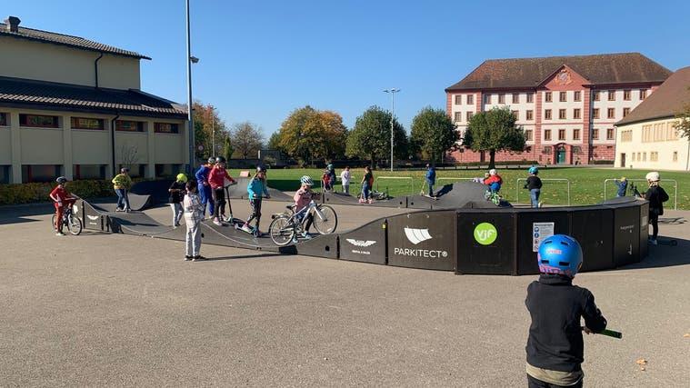 Die vorübergehende Anlage neben der Propsteiturnhalle in Klingnau macht Lust auf mehr. (Zvg/Michael Kaufmann)