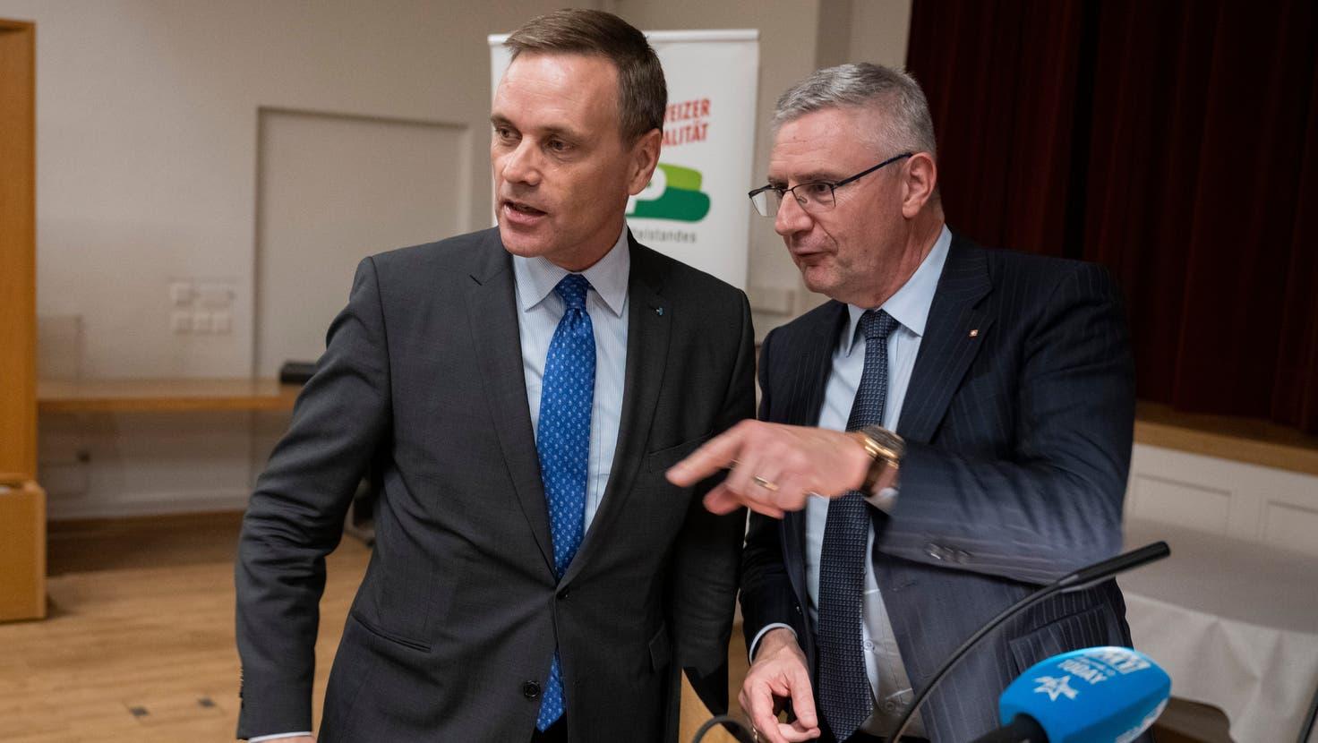 Gesundheitsdirektor Jean-Pierre Gallati warb für ein Ja zum Gesetz. (Alex Spichale)