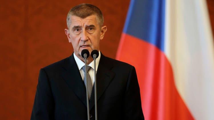 Der tschechische Ministerpräsident Andrej Babis. (Petr David Josek / AP)