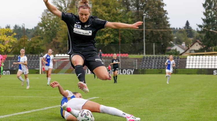 Sonja Giraudund die Frauen des FC Aarau konnten im Brügglifeld die Hürde GC nicht überspringen. (freshfocus)