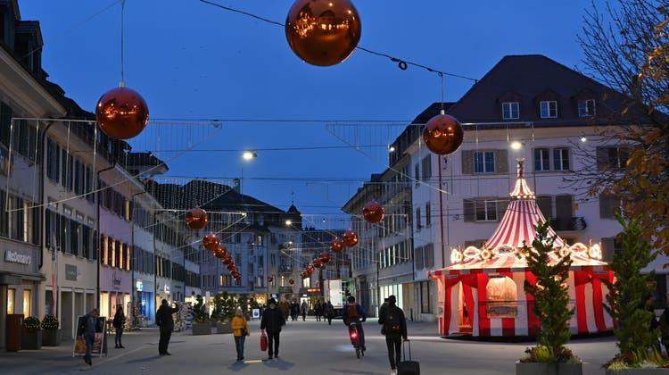 Im Dezember 2021 wird es in der Oltner Kirchgasse weihnachtlich - der Anlass von Gewerbe Olten soll sich schweizweit einen Namen machen. (Bruno Kissling (2019))