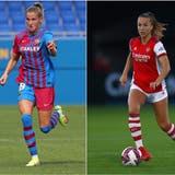 Barcelonas Ana-Maria Crnogorcevic (links) und Arsenals Lia Wälti kennen sich gut. Heute sind die Bernerinnen Gegnerinnen. (Bilder: Getty)
