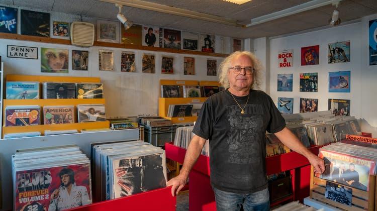 Thomas Spirig schliesst per Ende Oktober seinen Plattenladen Yesterday's Music an der St.-Jakob-Strasse in St.Gallen. (Bild: Raphael Rohner)