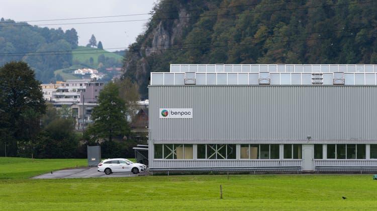 Geschlossener Benpac-Standort in Stans. (Bild: Dominik Wunderli (4. Oktober 2021))