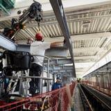 Die Debrunner Acifer AG lieferte 505 Tonnen Stahlträger für den Bau des Limmattalbahn-Depots im Dietiker Gebiet Müsli. (zvg)