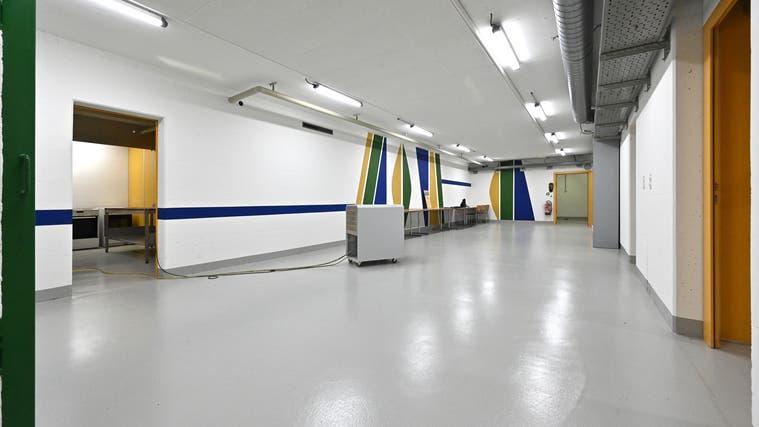 Der Aufenthaltsraum der zurückgebauten Zivilschutzanlage in Kestenholz. (Bruno Kissling)