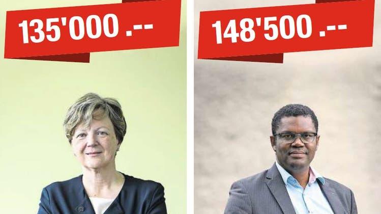 Die Mitte-Politikerin Isabelle Chassot eroberte in Freiburg einen Ständeratssitz. Ihr Wahlkampf war etwas günstiger als jener von SP-Mann Carl-Alex Ridoré. (Bild: Laurent Gillieron/Keystone (Freiburg, 26. September 2021))