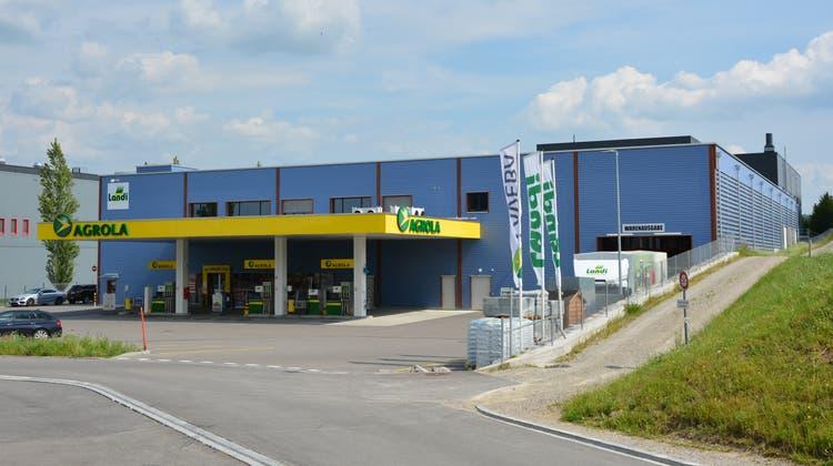 Der Neubau an der neuen Industriestrasse in Bazenheid bereitet den Verantwortlichen der Landi Toggenburg einiges Kopfzerbrechen. (Bild: Beat Lanzendorfer)