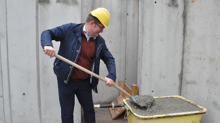 Die Baustelle des neuen Pflegeheims Ebnat-Kappel: Die Baumeisterarbeiten sollen im nächsten Frühjahr abgeschlossen sein. (Bild: Sabine Camedda)