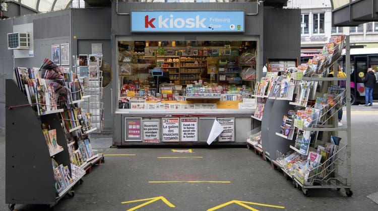 Die K Kioske von Valora dienen künftig auch als Anlaufstation für UPS-Pakete. (Keystone)