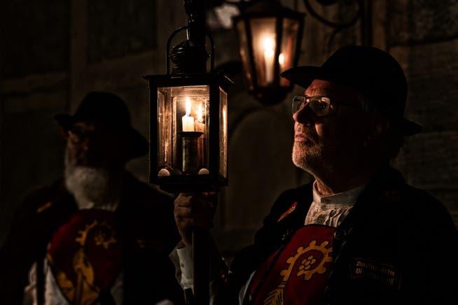 Kirsten Oertle wählte einen Bischofszeller Nachtwächter als Motiv.