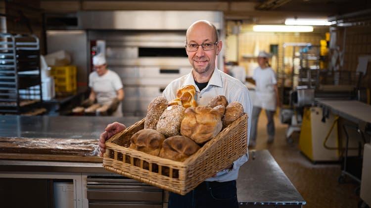 Der Engelburger Bäcker Joe Mock in seiner Backstube. (Bild: Michel Canonica)