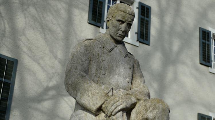 Das Soldatendenkmal beim Alten Zeughaus in Frauenfeld. (Bild: Reto Martin)