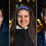Ema Savic, Gabriel Franz und Thomas Ruckli leben in Wettingen und wollen sich aktiv für die Gemeinde einsetzen. (Bild: Chris Iseli)