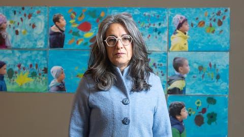 Kathrin Scholl, Präsidentin des Aargauischen Lehrerinnen- und Lehrerverbands, am 7.1.2021 in Aarau. (Michael Wuertenberg)