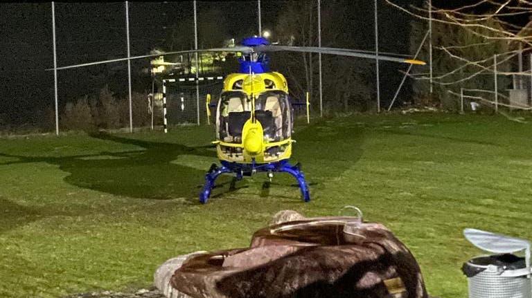 Sogar ein Rettungshelikopter war vor Ort.