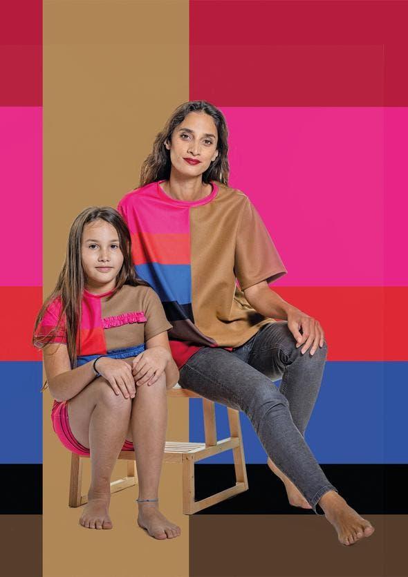 Die Farben sind von bolivianischen Tüchern inspiriert, das braun erinnert an die Abholzung.