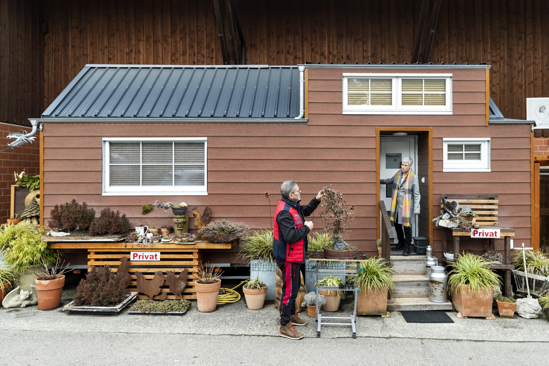 Sandro und Cornelia Huber leben in einem «Tiny House» im thurgauischen Affeltrangen.