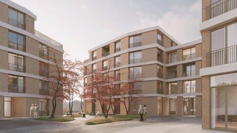 So wird sich das neue Pflegewohnheim im LuzernerBruchmattquartier präsentieren. (Visualisierung: Nightnurse Images)