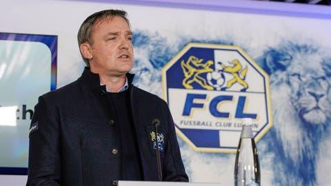FCL Präsident Philipp Studhalter am Freitag, 17. April 2020 bei der Swissporarena Luzern. (Philipp Schmidli / PHILIPP SCHMIDLI | Fotografie)