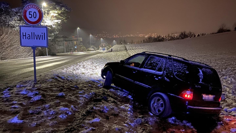 Wegen Schnee: Rund 20 Unfälle auf Aargauer Strassen