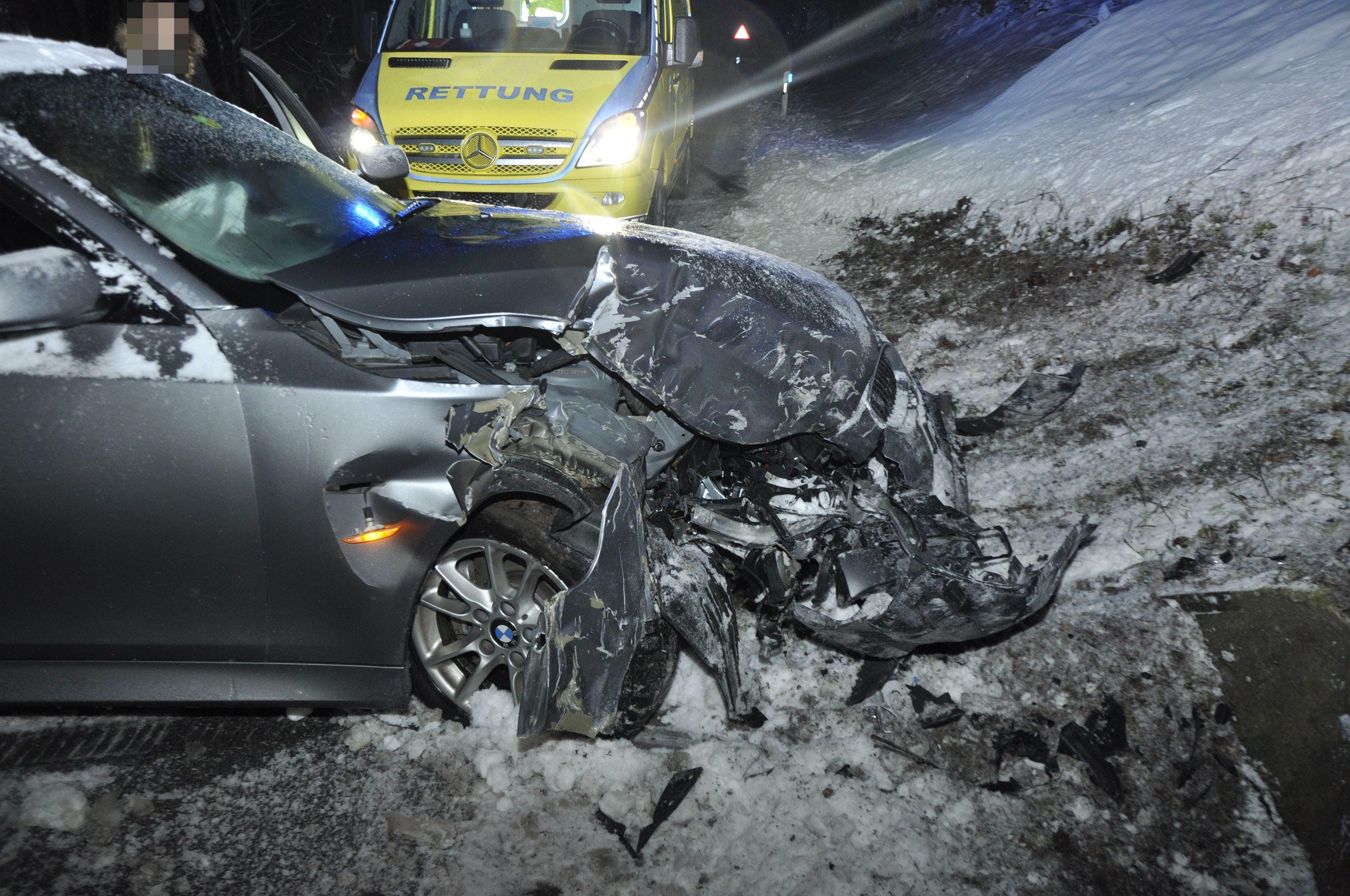 Das Unfallauto erlitt Totalschaden