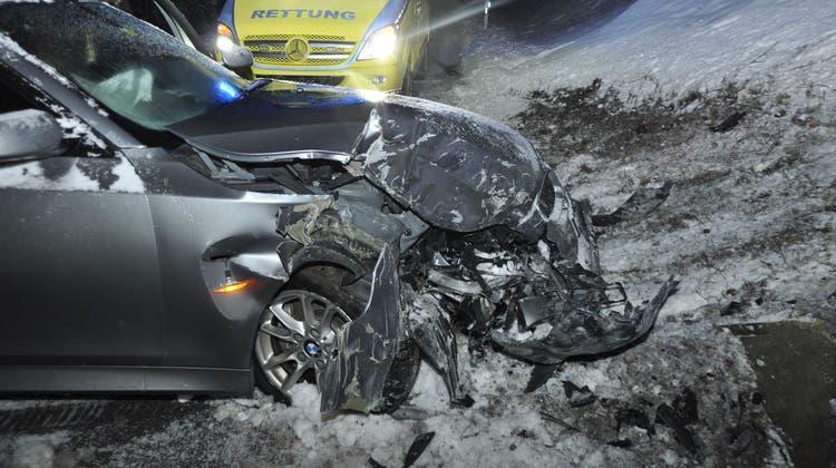 Das Unfallauto erlitt Totalschaden (Kapo SO)