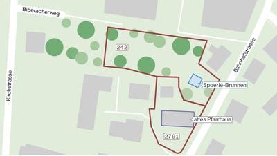 Die Parzelle 242 will die Evangelische Kirchgemeinde Amriswil-Sommeri der Stadt Amriswil verkaufen. (Infografik CH Media)