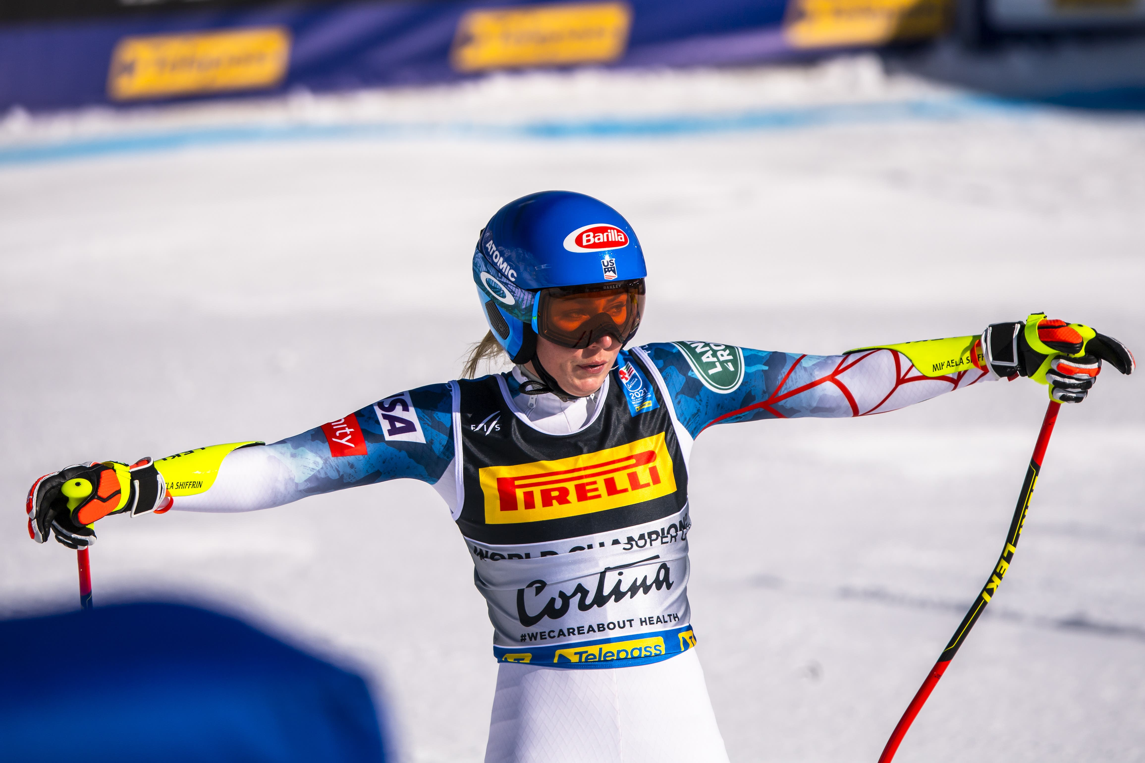 Mikaela Shiffrin, die Titelverteidigerin der letzten WM-Ausgabe, landet auf Rang drei.
