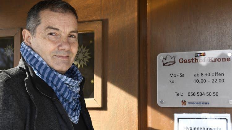 Vom Koch zum Besitzer: Sali Mehmetaj übernimmt auf Anfang März das Restaurant Krone in Rietheim. (Alexander Wagner)