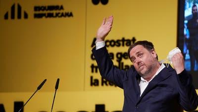 Nachts im Gefängnis, tagsüber trommelt er für die Unabhängigkeit Kataloniens: Separatistenchef Oriol Junqueras. (Alejandro Garcia / EPA)