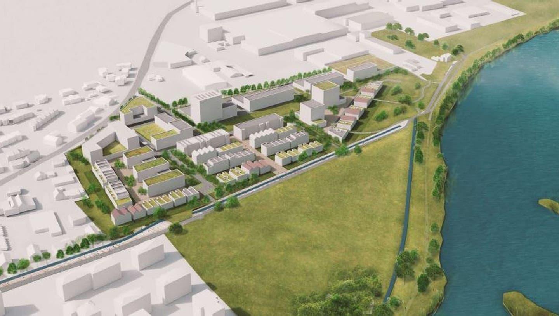 Visualisierung Grossacher Kleindöttingen Böttstein, bis zu 900 neue Einwohner und bis zu 500 neue Arbeitsplätze. (Zvg / Aargauer Zeitung)