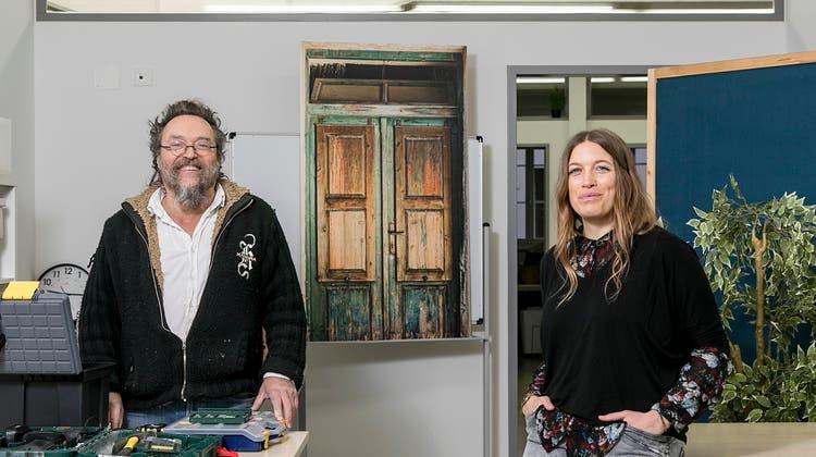 Nach Aarau eröffnen Inhaber Markus Wider und Geschäftsführerin Isabelle Pfaff einen weiteren Standort von Social Input in Brugg. (Bild: Sandra Ardizzone)