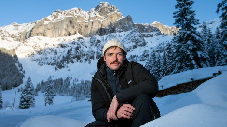 Hier in Haldi bei Schattdorf, in den mystischen Urner Alpen, dreht der Murianer Leon Schwitter seinen ersten Langfilm «Réduit». (Bild: Eveline Beerkircher)