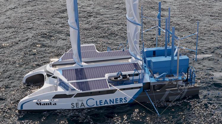 Der Manta fischt in einer Stunde drei Tonnen Plastik aus dem Meer