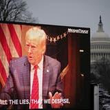 Noch einmal alle Augen auf Donald Trump: Im US-Senat läuft der Impeachment-Prozess gegen den Ex-Präsidenten. (Drew Angerer / Getty Images North America)