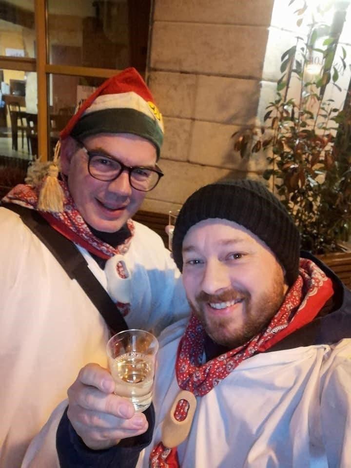 Obernarr Patrick Meier (links) und Obergugger Michel Baier