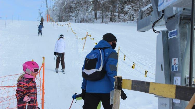 Der neue Skilift auf dem Grenchenberg ist ein Erfolg. (Nadine Schmid)