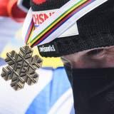 Beat Feuz und der Flirt mit Bronze. (Christian Bruna / EPA)