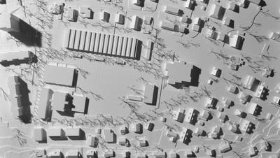 Situationsplan: Vorgesehen ist ein grosser, zweigeschossiger Längsbau. (Bild: zvg)