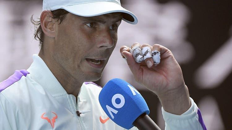 Rafael Nadal greift nach seinem zweiten Titel in Melbourne. (Andy Brownbill / AP)